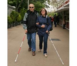 WN-Usuario sordociego paseando con usuaria ciega